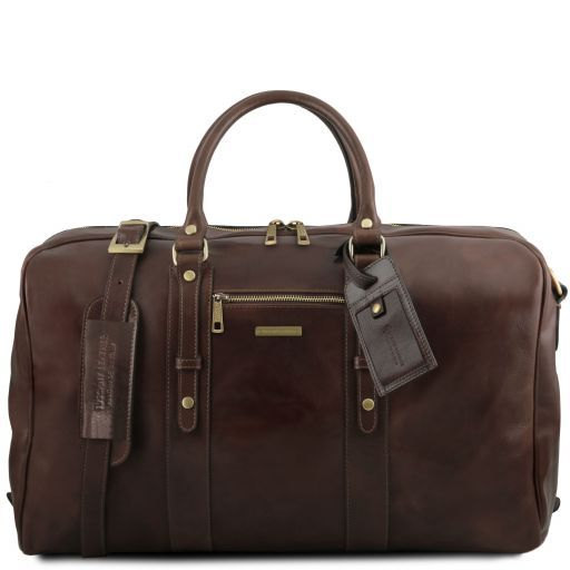 TL Voyager - Leather travel bag with front pocket_12