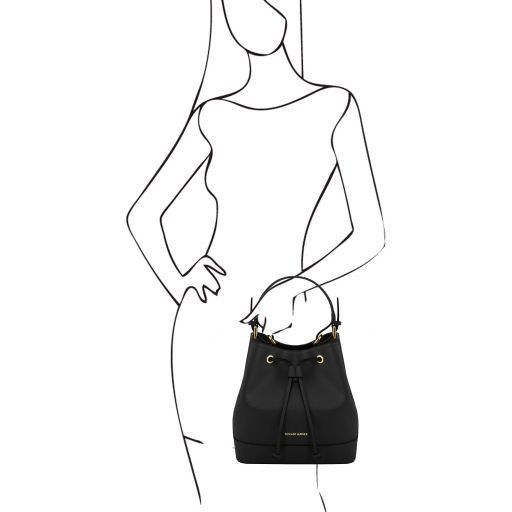 Minerva Saffiano Leather Bucket Bag_18