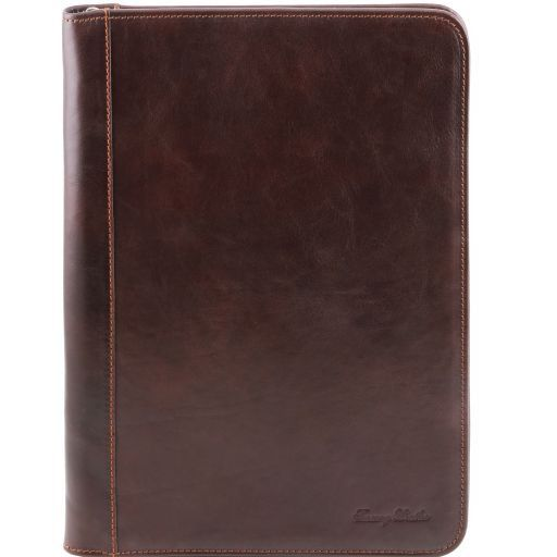 Luigi XIV Vegetable Tanned Leather Leather Document Case with zip closure_9