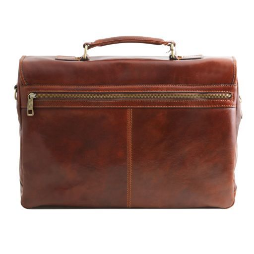 Mantova Vegetable Tanned Leather SMART Briefcase_4