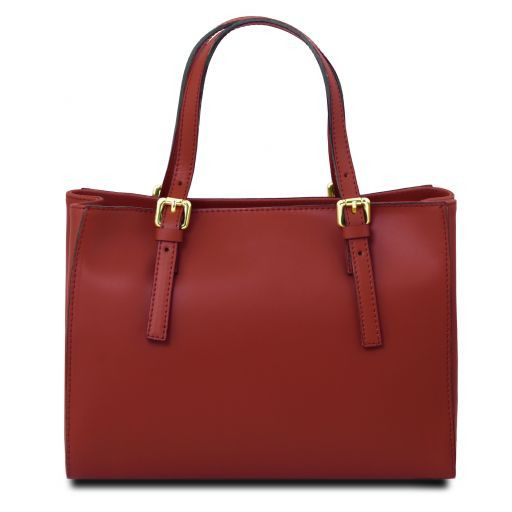 Aura Smooth Leather Satchel_27
