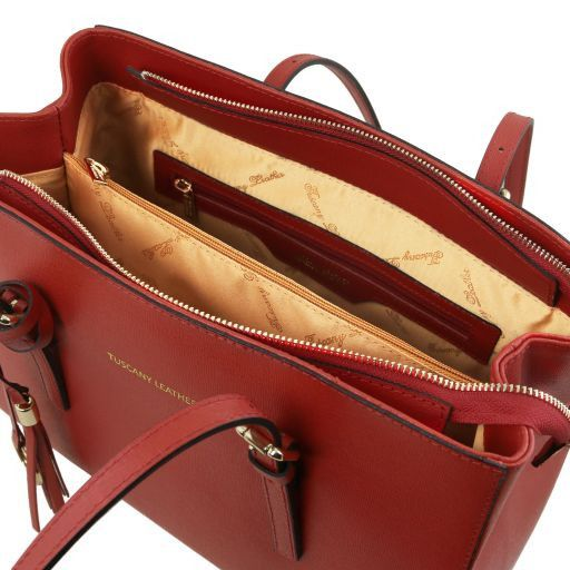 TL Saffiano Leather  Work Tote _3