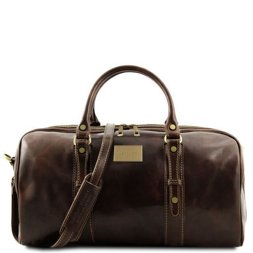 Francoforte - Exclusive Leather Weekender Travel Bag - Small size_1