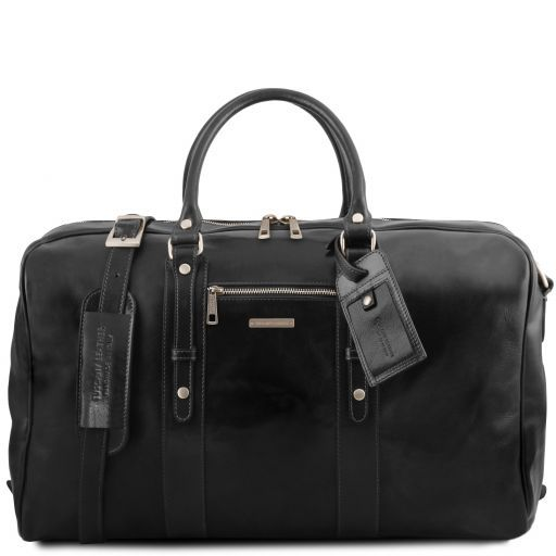 TL Voyager - Leather travel bag with front pocket_11