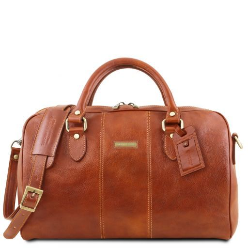 Lisbona - Travel leather duffle bag - Small size_10