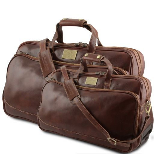 Bora Bora - Leather Trolley travel set_1