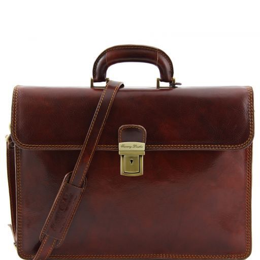Parma Vegetable Tanned Leather Briefcase _1
