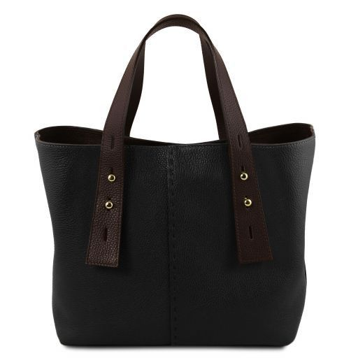 TL Hammered Leather Shopping Tote_23