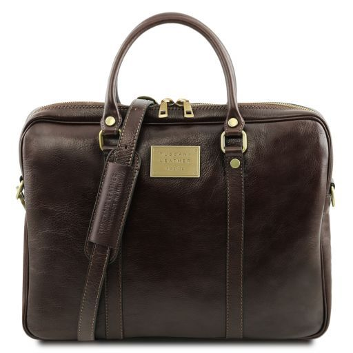Prato Vegetable Tanned Leather Laptop Case_1