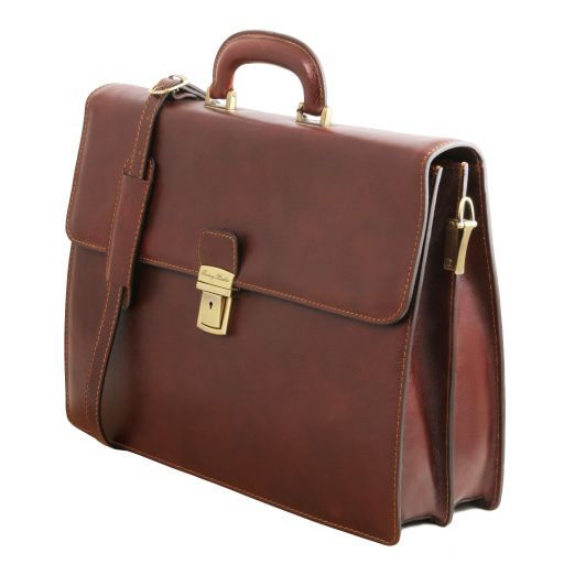Parma Vegetable Tanned Leather Briefcase _3