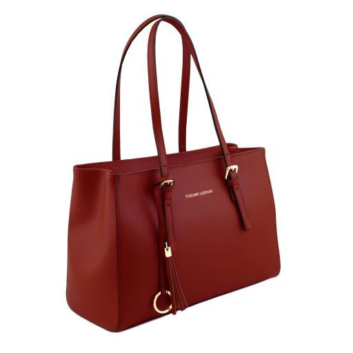 TL Saffiano Leather  Work Tote _2