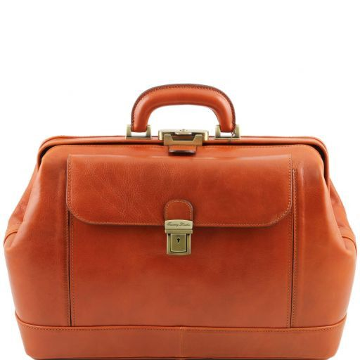 Leonardo Vegetable Tanned Leather Doctor bag_12