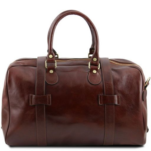 TL Voyager - Leather travel bag with front straps - Large size_3