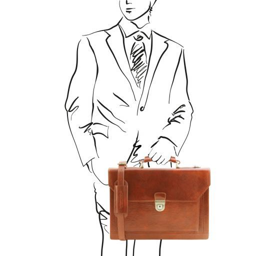 Cremona Vegetable Tanned Leather Briefcase_10