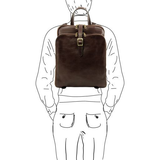 Taipei Vegetable Tanned Leather Backpack_12