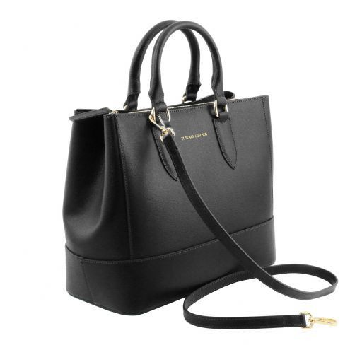 TL Saffiano Leather Satchel _12