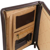 Claudio Vegetable Tanned Leather  Document Case with Handle_3