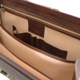 Canova Vegetable Tanned Leather Briefcase 3 compartments_7