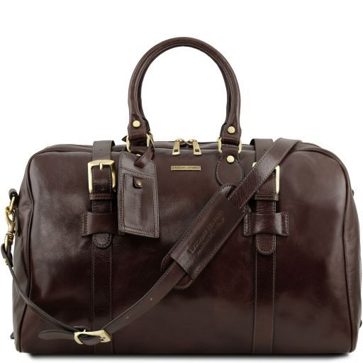 TL Voyager - Leather travel bag with front straps - Large size_11