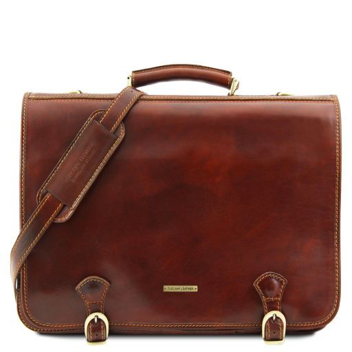 Ancona Vegetable Tanned Leather Messenger Bag_6