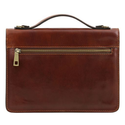 Eric Vegetable Tanned Leather Shoulder Bag For Men _4