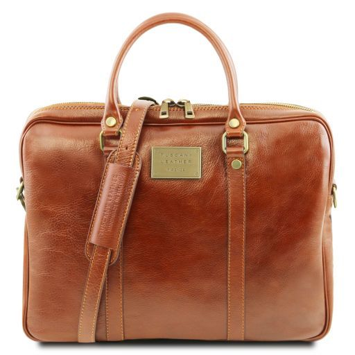 Prato Vegetable Tanned Leather Laptop Case_14
