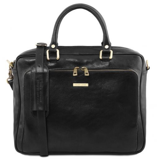 Pisa Vegetable Tanned Leather Laptop Briefcase_9