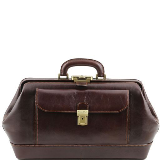 Bernini Vegetable Tanned Leather Doctor bag_1