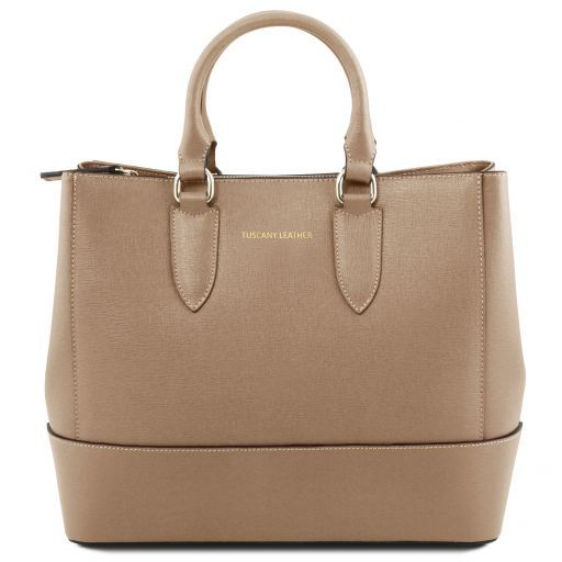 TL Saffiano Leather Satchel _19