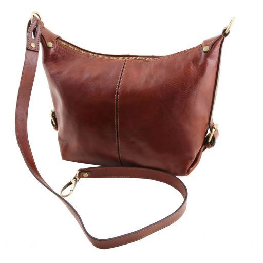 Sabrina Vegetable Tanned Leather Hobo Bag_5