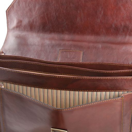 Roma Vegetable Tanned Leather Briefcase_10