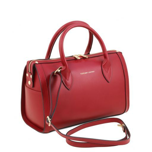 Elena Smooth Leather Boston Bag_2