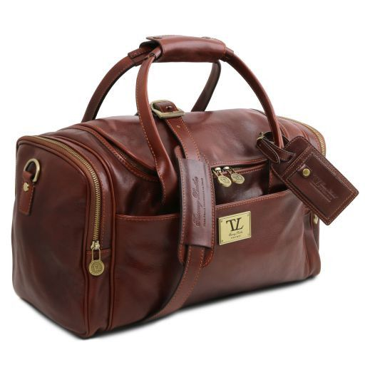 TL Voyager - Travel leather bag with side pockets - Small size_7