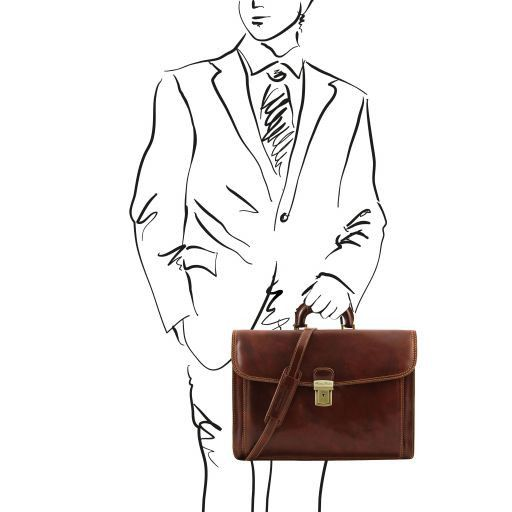 Napoli Vegetable Tanned Leather Briefcase_7