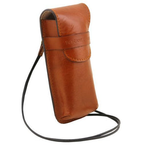 Exclusive Ful GrainLleather eyeglasses/Smartphone holder ( L)_2