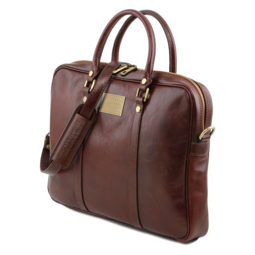 Prato Vegetable Tanned Leather Laptop Case_3