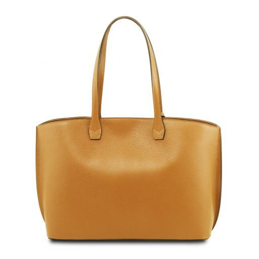 TL Embossed Leather Tote Bag_10
