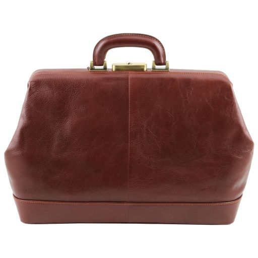 Leonardo Vegetable Tanned Leather Doctor bag_7