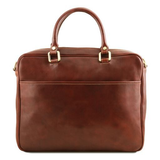Pisa Vegetable Tanned Leather Laptop Briefcase_15