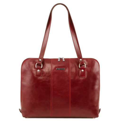 Ravenna Vegetable Tanned Leather Lady Business Bag_14