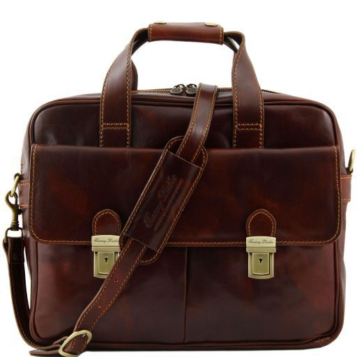 Reggio Emilia Vegetable Tanned Leather Laptop Case_1