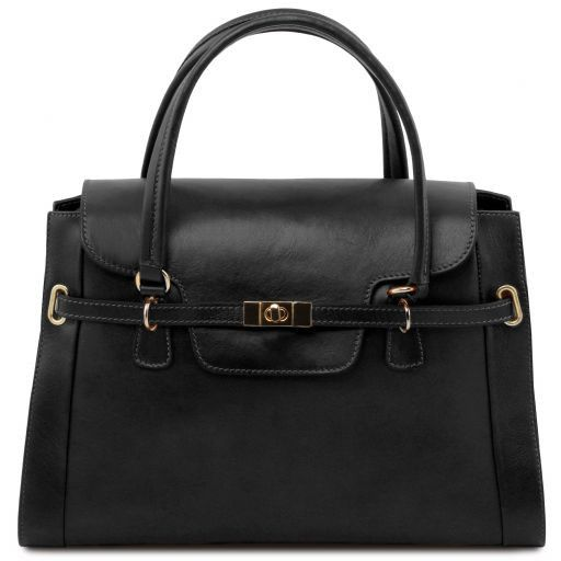 NeoClassic Full Grain Leather Satchel with twist lock_12