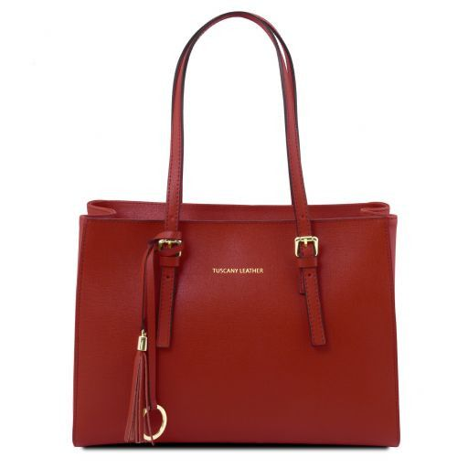 TL Saffiano Leather  Work Tote _1
