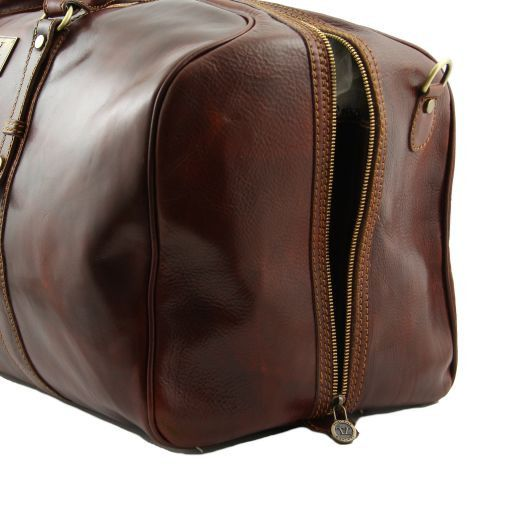 Francoforte - Exclusive Leather Weekender Travel Bag - Large size_4
