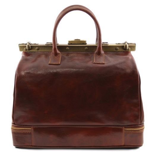 Barcellona - Double-bottom Gladstone Leather Bag_3