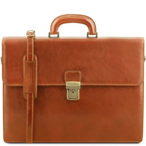 Parma Vegetable Tanned Leather Briefcase _14