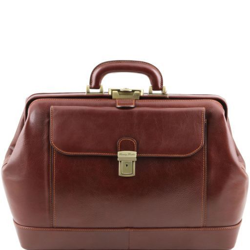 Leonardo Vegetable Tanned Leather Doctor bag_11