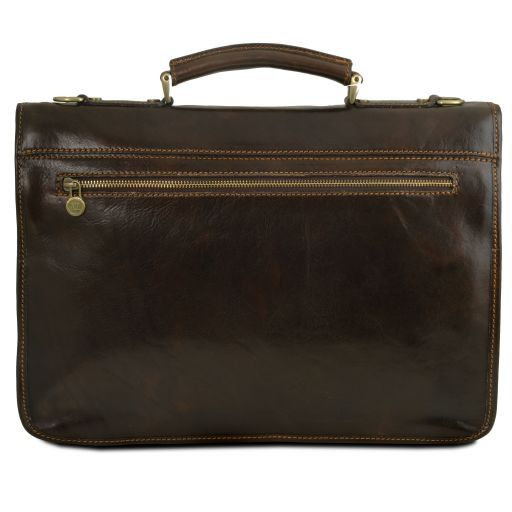 Firenze Vegetable Tanned Leather Briefcase_6