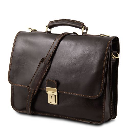 Torino Vegetable Tanned Leather Briefcase_3