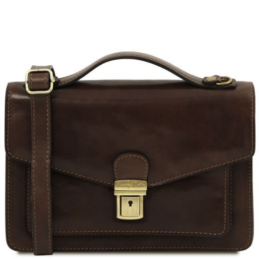 Eric Vegetable Tanned Leather Shoulder Bag For Men _12